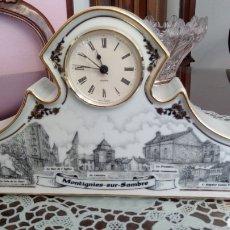 Relojes automáticos: ORIGINAL RELOJ SOBREMESA DE CERAMICA -NUMERADO CON EL 14. Lote 217090928