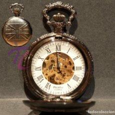 Relojes automáticos: RELOJ DE BOLSILLO AUTOMÁTICO LONDON 17 RUBÍS MAQUINARIA VISTA. Lote 218042073