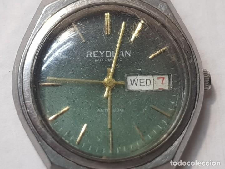 RELOJ CABALLERO REYBLAN AUTOMATIC 17 JEWELS ESFERA VERDE DIFÍCIL FUNCIONANDO (Relojes - Relojes Automáticos)