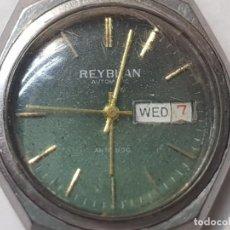 Relojes automáticos: RELOJ CABALLERO REYBLAN AUTOMATIC 17 JEWELS ESFERA VERDE DIFÍCIL FUNCIONANDO. Lote 220298887