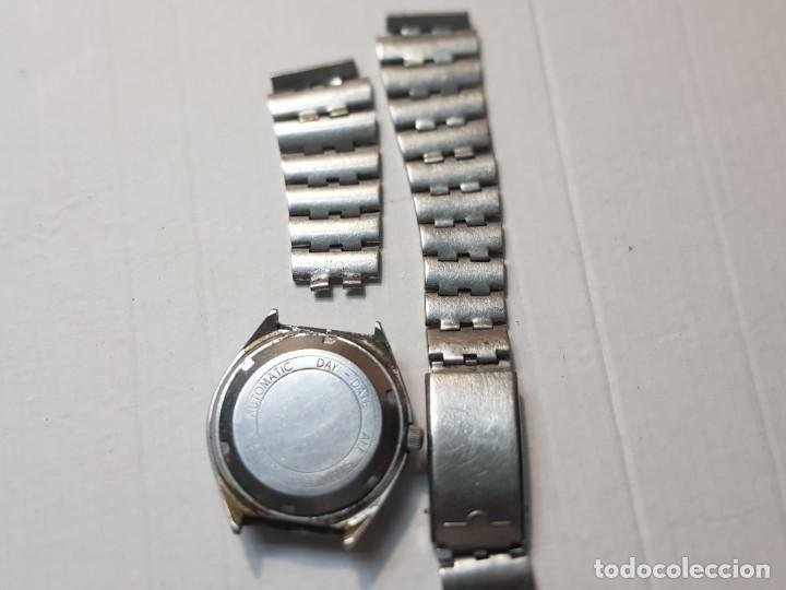 Relojes automáticos: Reloj Caballero Reyblan Automatic 17 jewels esfera verde difícil funcionando - Foto 3 - 220298887