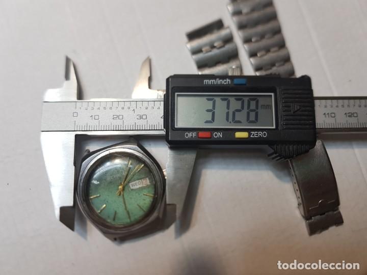 Relojes automáticos: Reloj Caballero Reyblan Automatic 17 jewels esfera verde difícil funcionando - Foto 4 - 220298887