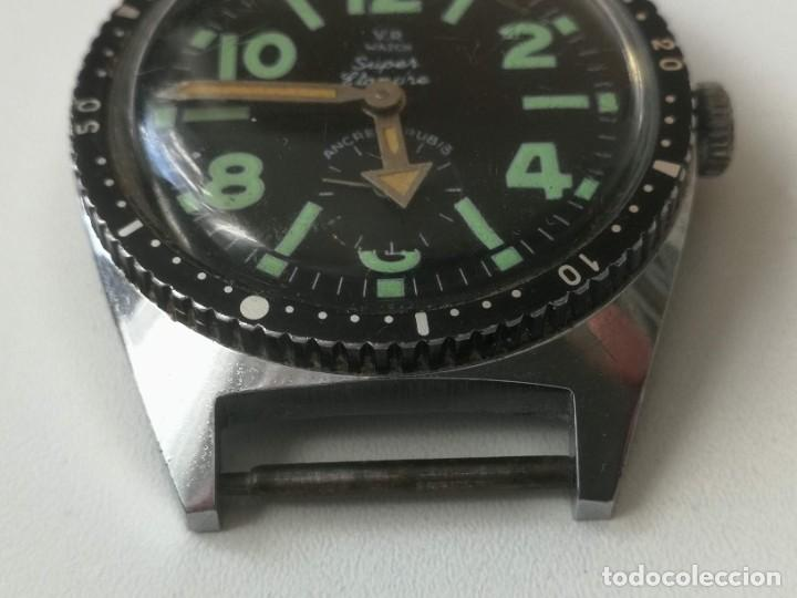 Relojes automáticos: PRECIOSO RELOJ VINTAGE DE PULSERA - AÑOS 60-70 - FUNCIONANDO - V.R WATCH SUPER ÉTANCHE - ANCRE 17 RU - Foto 3 - 220460612