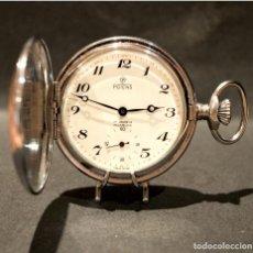 Relojes automáticos: RELOJ DE BOLSILLO AUTOMATICO Y CARGA MANUAL SUIZO POTENS SABONETA 17 RUBIS SWISS MADE. Lote 221363957