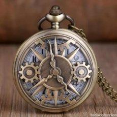 Relojes automáticos: RELOJ DE BOLSILLO MECANISMO ANTIGUO. ENGRANAJE VINTAGE. Lote 221560923