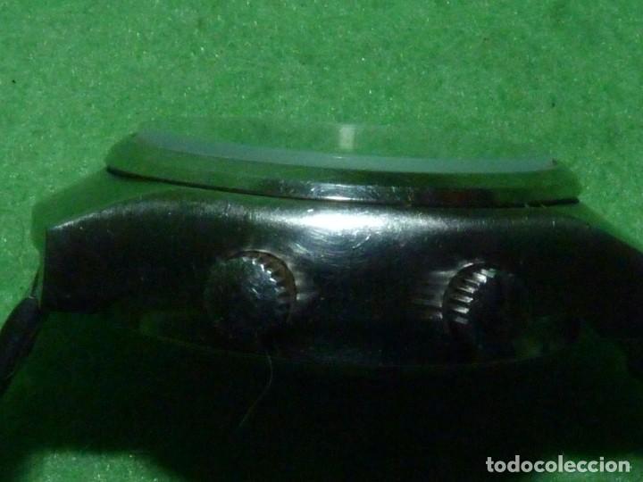 Relojes automáticos: SOLIDO RELOJ SUPER WATCH ALARMA AUTOMATICO CALIBRE As 5008 SWISS MADE 25 RUBIS ACERO AÑOS 70 - Foto 5 - 221719655