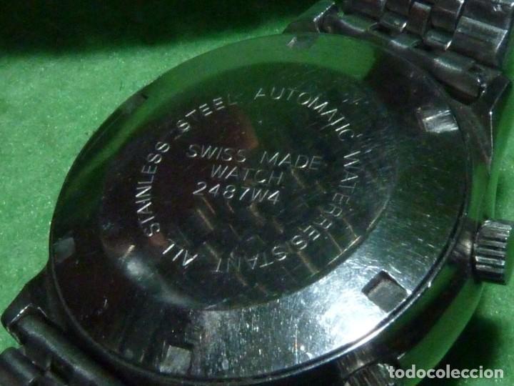 Relojes automáticos: SOLIDO RELOJ SUPER WATCH ALARMA AUTOMATICO CALIBRE As 5008 SWISS MADE 25 RUBIS ACERO AÑOS 70 - Foto 6 - 221719655