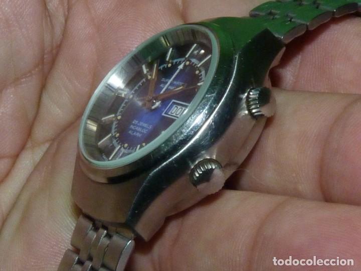Relojes automáticos: SOLIDO RELOJ SUPER WATCH ALARMA AUTOMATICO CALIBRE As 5008 SWISS MADE 25 RUBIS ACERO AÑOS 70 - Foto 9 - 221719655