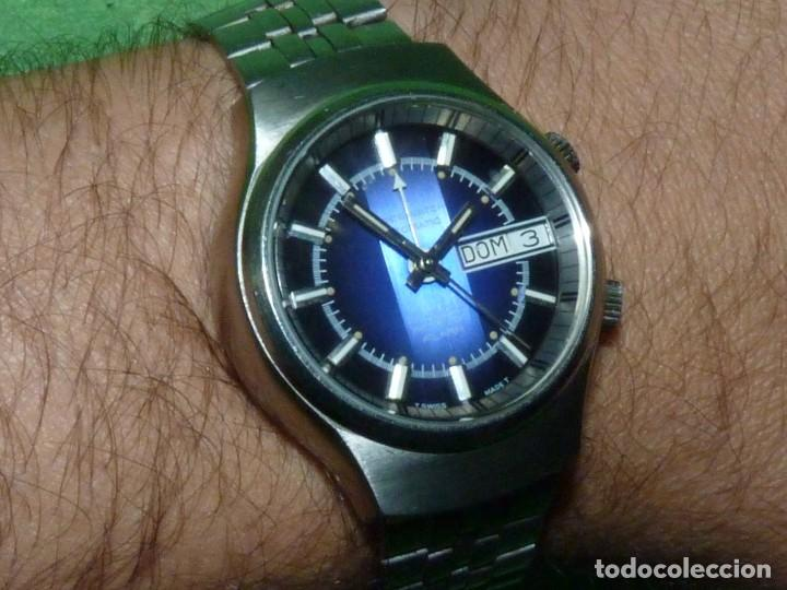 Relojes automáticos: SOLIDO RELOJ SUPER WATCH ALARMA AUTOMATICO CALIBRE As 5008 SWISS MADE 25 RUBIS ACERO AÑOS 70 - Foto 10 - 221719655