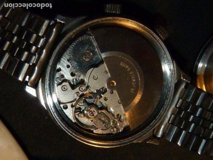 Relojes automáticos: SOLIDO RELOJ SUPER WATCH ALARMA AUTOMATICO CALIBRE As 5008 SWISS MADE 25 RUBIS ACERO AÑOS 70 - Foto 7 - 221719655
