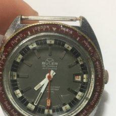Relojes automáticos: RELOJ BULER AUTOMATICO DIVER WATCH BREVETS 25 JEWELS 6ATM VGC. NO FUNCIONA.CREO QUE ES LA ESPIRAL. Lote 221760385