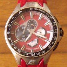 Relojes automáticos: JACQUES LEMANS. TACHYMETER. FORMULA 1 TM. F5016. CRONOGRAPH. WATER RESISTANT 10 ATM. 4,5 DIÁMETRO.. Lote 221798473