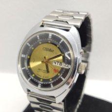 Relojes automáticos: RELOJ RUSO VINATGE SLAVA AUTOMÁTICO ACERO INOXIDABLE 27 RUBIES, HECHO EN LA URSS. Lote 221835462