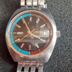 Relojes automáticos: RELOJ CITIZEN CRISTALSEVEN AUTOMATIC FUNCIONA BIEN.MIDE 36 MM DIAMETRO IMPECABLE .VER FOTOS. Lote 222397626