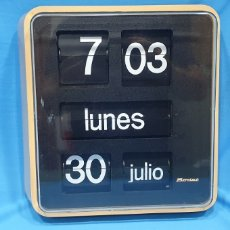 Relojes automáticos: RELOJ DE PARED FLIP FLOP - BODET - TIPO MARCADOR PARA BANCOS Y OFICINAS. LEER. Lote 222641147