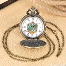 Relojes automáticos: RELOJ DE BOLSILLO HARRY POTTER. ESCUELA DE MAGIA SLYTHERIN.. Lote 243184740