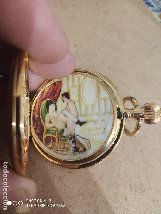 Relojes automáticos: PRECIOSO RELOJ DE BOLSILLO AUTOMÁTICO ,ESCENA SEXO INTERIOR, EN PERFECTO ESTADO, SIN MARCA. - Foto 5 - 224679090