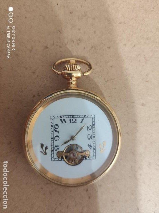 PRECIOSO RELOJ DE BOLSILLO AUTOMÁTICO, EN PERFECTO ESTADO, SIN MARCA. (Relojes - Relojes Automáticos)