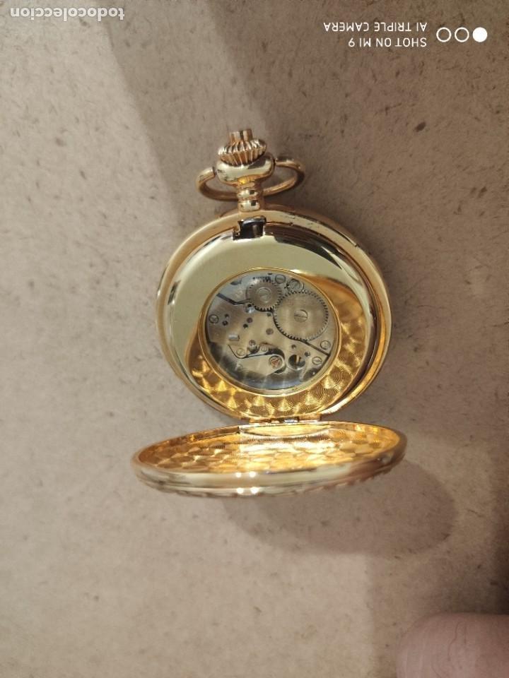 Relojes automáticos: PRECIOSO RELOJ DE BOLSILLO AUTOMÁTICO, EN PERFECTO ESTADO, SIN MARCA. - Foto 4 - 224679351