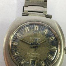 Relojes automáticos: RELOJ CYMA BY CONQUISTADOR AUTOMÁTICO CORREA ORIGINAL ACERO EN FUNCIONAMIENTO REPASADO. Lote 226812750
