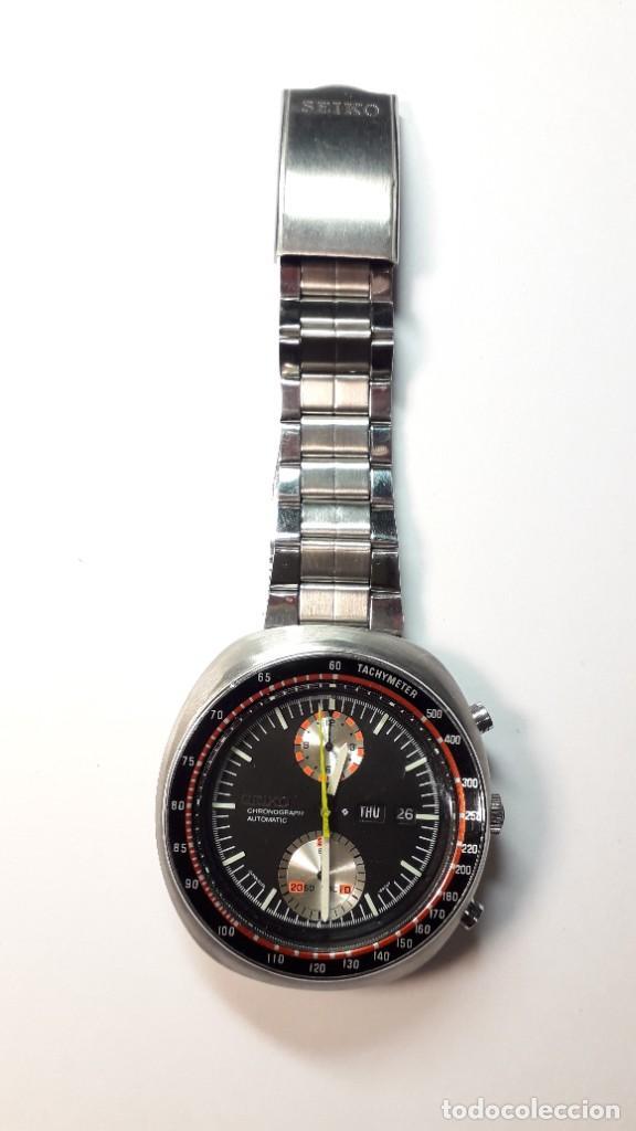 Relojes automáticos: Seiko UFO reloj Cronógrafo automático años 70s - Foto 5 - 227890375