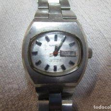 Relojes automáticos: RELOJ DE PULSERA SEÑORA ' SANDOZ ' AUTOMATICO, 25 RUBIS, FUNCIONANDO, SEGUNDERO Y CALENDARIO + INFO. Lote 227892910