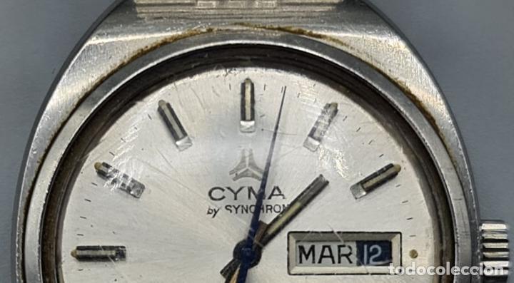 Relojes automáticos: RELOJ DE PULSERA CYMA BY SYNCHRON. MODELO CONQUISTADOR. SUIZA. CIRCA 1970. - Foto 3 - 227946495