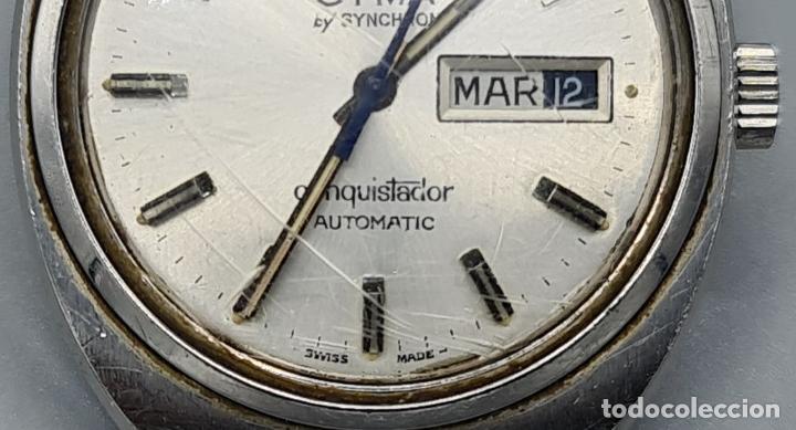 Relojes automáticos: RELOJ DE PULSERA CYMA BY SYNCHRON. MODELO CONQUISTADOR. SUIZA. CIRCA 1970. - Foto 4 - 227946495
