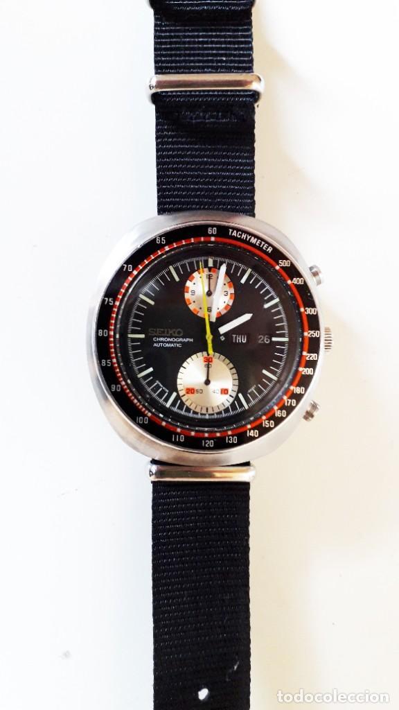 Relojes automáticos: Seiko UFO reloj Cronógrafo automático años 70s - Foto 4 - 227890375