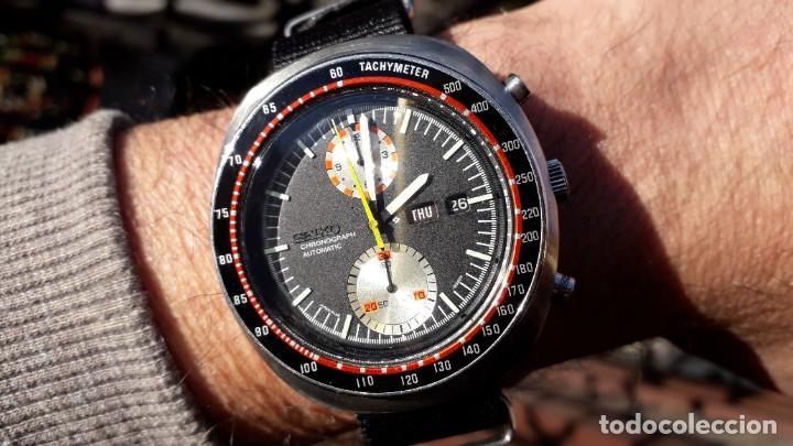 Relojes automáticos: Seiko UFO reloj Cronógrafo automático años 70s - Foto 3 - 227890375