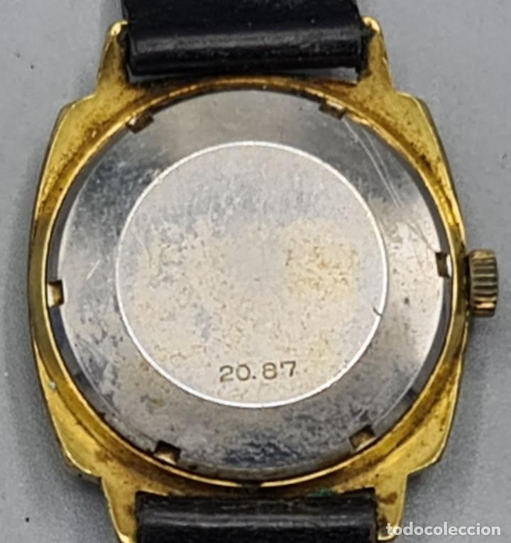 Relojes automáticos: RELOJ DE PULSERA MILUS. AUTOMATIC. CAJA DE METAL CHAPADO EN ORO. CIRCA 1960. - Foto 3 - 228112055