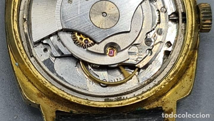 Relojes automáticos: RELOJ DE PULSERA MILUS. AUTOMATIC. CAJA DE METAL CHAPADO EN ORO. CIRCA 1960. - Foto 6 - 228112055