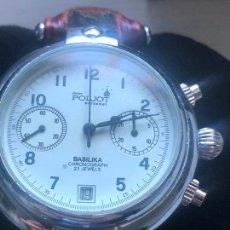 Orologi automatici: RELOJ DE PULSERA PARA HOMBRE POLJOT BASILIKA CARCASA CHAPADA EN CROMO - CARCASA ABIERTA, DE CRISTAL. Lote 229253435