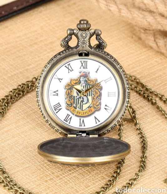 RELOJ DE BOLSILLO HUFFLEPUFF. ESCUELA DE MAGIA HOGWARTS. HARRY POTTER. (Relojes - Relojes Automáticos)