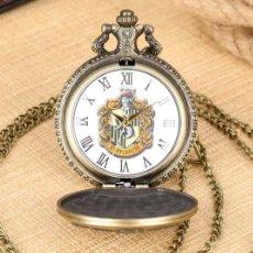 Relojes automáticos: RELOJ DE BOLSILLO HUFFLEPUFF. ESCUELA DE MAGIA HOGWARTS. HARRY POTTER.. Lote 230283920