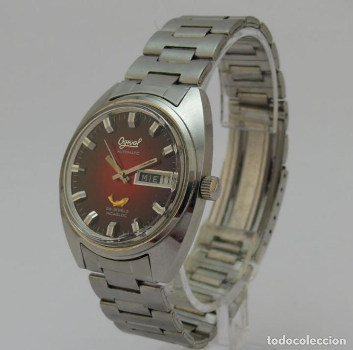 Relojes automáticos: OGIVAL AUTOMATICO CAL AS 2066 - Foto 2 - 232850730