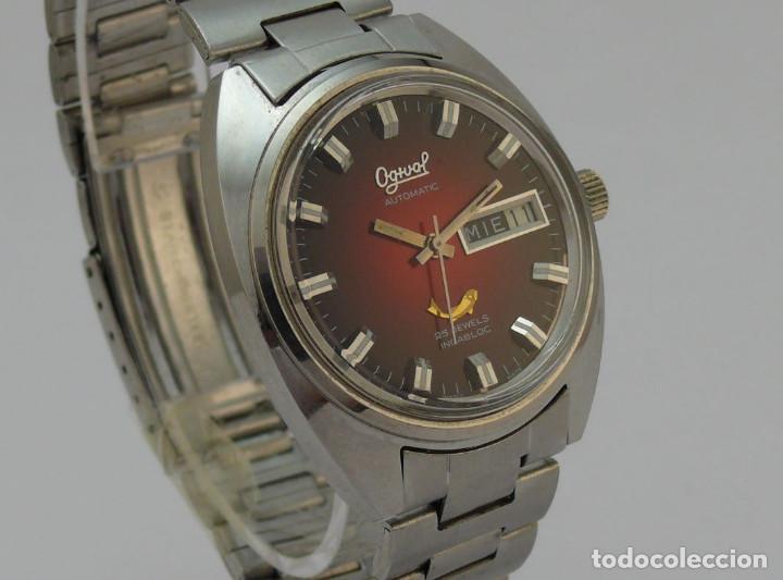 Relojes automáticos: OGIVAL AUTOMATICO CAL AS 2066 - Foto 5 - 232850730