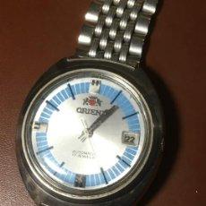 Relojes automáticos: RELOJ DE PULSERA ORIENT AUTOMATICO ESFERA AZUL, DESCONOZCO SI FUNCIONA O NO. CRISTAL UN POCO RAYADO. Lote 232863250
