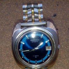 Relojes automáticos: PRECIOSO SEIKO ESFERA AZUL FINALES DE LOS 60 FUNCIONA PERFECTAMENTE AUTENTICO CON DIARIO. Lote 233101070