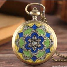Relojes automáticos: RELOJ DE BOLSILLO MOSAICO FLOR.. Lote 233173055
