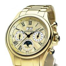 Relojes automáticos: RELOJ RECTANGULAR, CON ESFERA DORADA. CAJA DE ORO DE 18 KILATES. MEDIDAS DE LA CAJA: 40 X 27 X. Lote 234437110