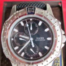 Relojes automáticos: RELOJ DE PULSERA RACER MULTIFUNCION QUARTZ - FUNCIONANDO - CORREA ORIGINAL DE SILICONA REFORZADA ANT. Lote 234448305