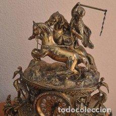 Relojes automáticos: RELOJ DE BRONCE MECANISMO A PILAS. Lote 234576335