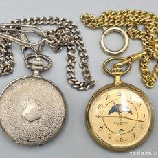 Relojes automáticos: PAREJA DE RELOJES DE BOLSILLO. CUARZO. CRYSTAL Y CONTINENTAL. METAL. SIGLO XX.. Lote 235621465