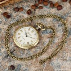 Relojes automáticos: RELOJ DE BOLSILLO, DE COLECCIÓN, DE CUARZO ESFERA DE NACAR. Lote 236034030