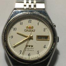 Relojes automáticos: RELOJ ORIENT AUTOMÁTICO 3 ESTRELLAS CRYSTAL 21 JEWELS ARMYS ORIGINAL COMO NUEVO MODELO 469EA-80. Lote 236504140