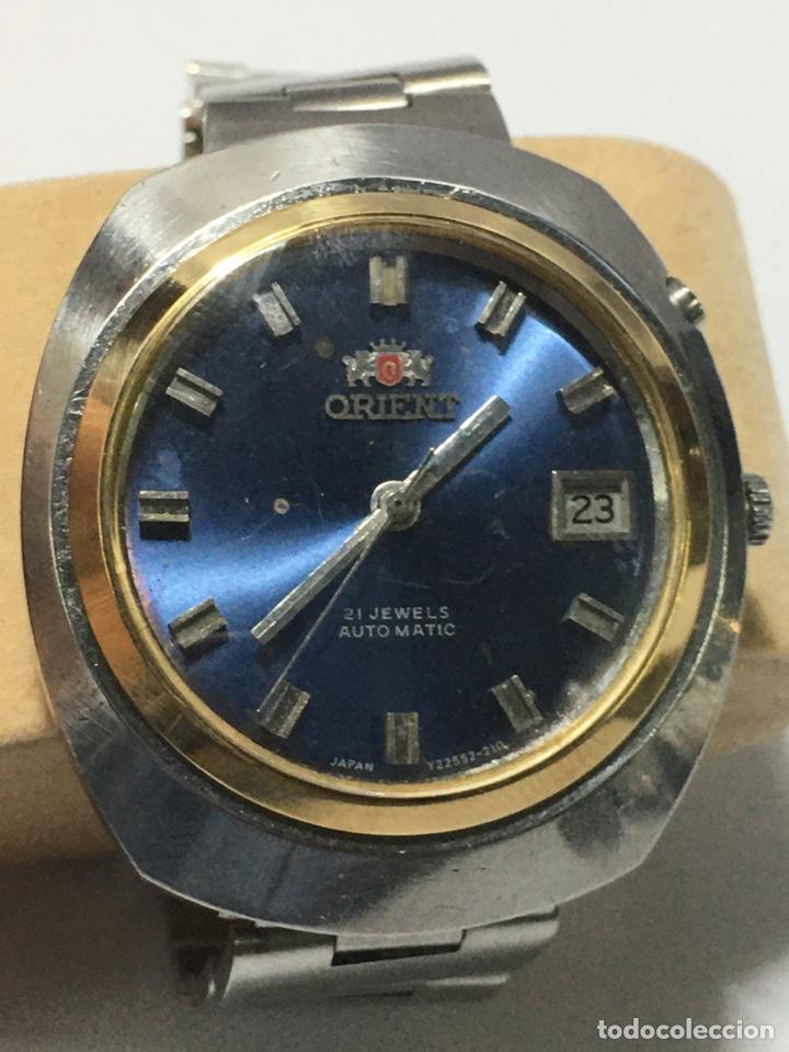 RELOJ ORIENT-AUTOMATICO. AÑOS 70. CORONA ESTERIOR CHPADA RARA (Relojes - Relojes Automáticos)