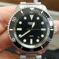 Relojes automáticos: RELOJ DE BUCEO ARMIDA MILSUB CALIBRE MIYOTA 9015. DESCONTINUADO E INENCONTRABLE. EXCELENTE ESTADO.. Lote 240224300