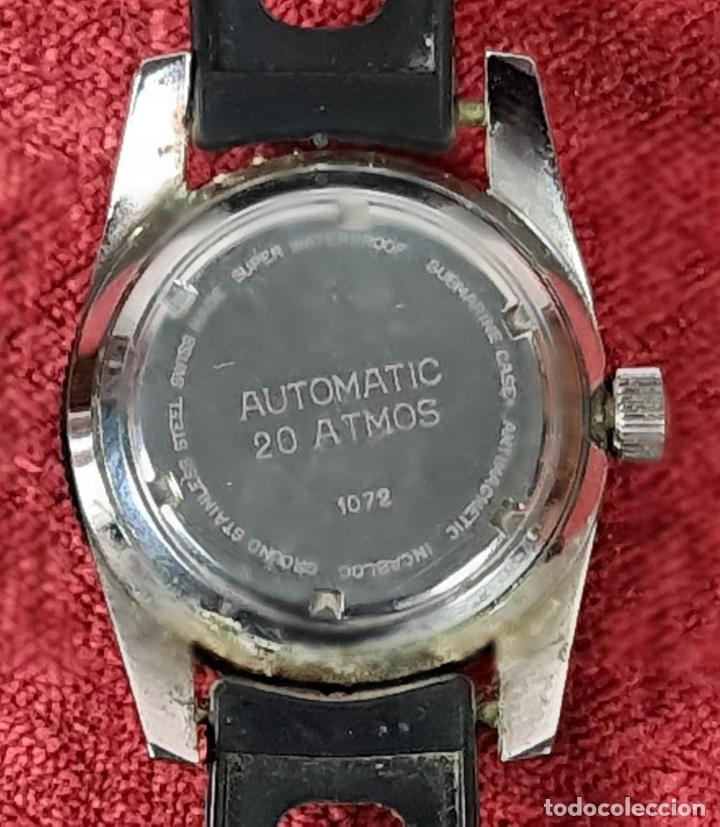 Relojes automáticos: RELOJ AUTOMATICO MONVIS. INCABLOC. 25 RUBIS. ACERO INOXIDABLE. CIRCA 1960. - Foto 2 - 243574590