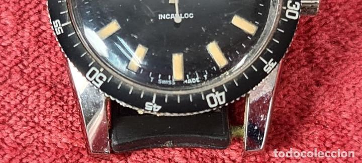 Relojes automáticos: RELOJ AUTOMATICO MONVIS. INCABLOC. 25 RUBIS. ACERO INOXIDABLE. CIRCA 1960. - Foto 4 - 243574590
